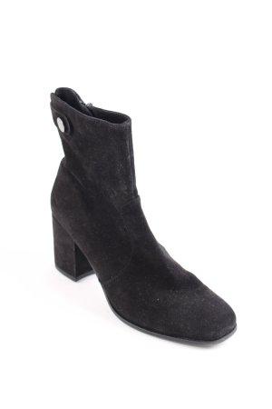 Kennel + schmenger Reißverschluss-Stiefeletten schwarz klassischer Stil