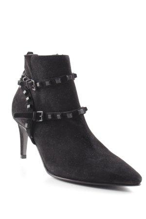 Kennel + schmenger Reißverschluss-Stiefeletten schwarz Street-Fashion-Look