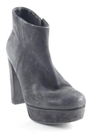 Kennel + schmenger Reißverschluss-Stiefeletten schwarz Urban-Look