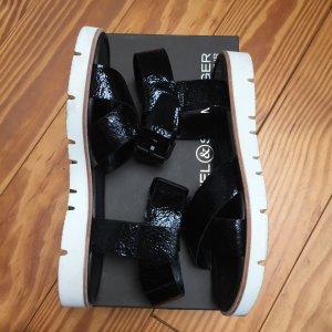 Kennel & Schmenger Sandale schwarz Crack Leder