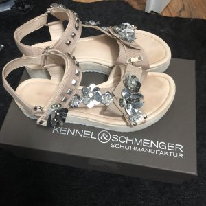 Kennel + schmenger Strapped Sandals nude-silver-colored