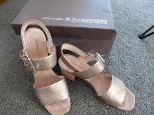 Kennel + schmenger Sandalo con cinturino e tacco alto beige Pelle
