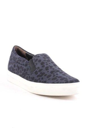 Kennel + schmenger Schlüpfsneaker schwarz-dunkelblau Farbtupfermuster