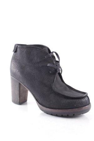 Kennel + schmenger Schnür-Stiefeletten schwarz schlichter Stil