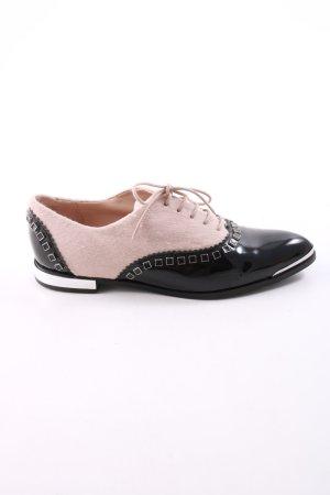 Kennel + schmenger Veterschoenen zwart-roze zakelijke stijl