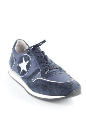 Kennel + schmenger Schnürsneaker dunkelblau-silberfarben sportlicher Stil
