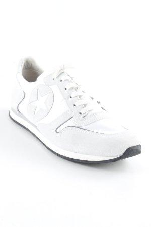 Kennel + schmenger Schnürsneaker weiß-hellbeige sportlicher Stil