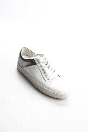Kennel + schmenger Schnürsneaker weiß-silberfarben sportlicher Stil