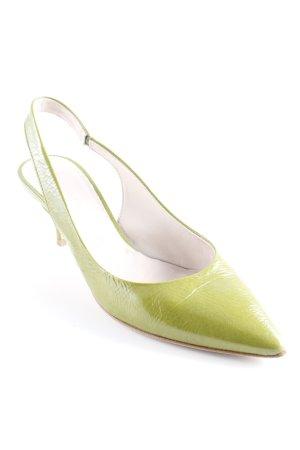 Kennel + schmenger Spitz-Pumps grasgrün Elegant