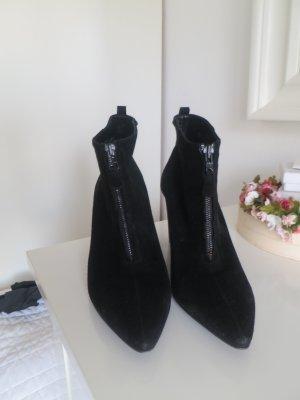 Kennel und Schmenger Botas de tobillo negro Gamuza