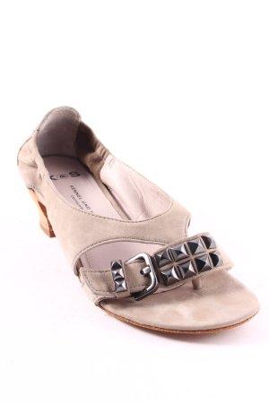 Kennel + schmenger Zehentrenner-Sandalen khaki-hellbraun minimalistischer Stil