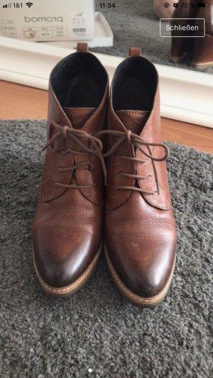 Kennel + schmenger Wedge Booties brown-cognac-coloured leather