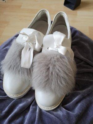 Kennel und Schmenger 6,5 Größe, weiß Sneakers mit Fell