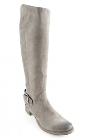 Kennel und Schmenger Absatz Stiefel grau-silberfarben Street-Fashion-Look