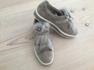 Kennel und Schmenger Halbschuhe Schuhe taupe mit Fell Gr. 8 nude