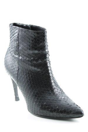 Kennel und Schmenger High Heel Stiefel schwarz Fischgrätmuster Business-Look