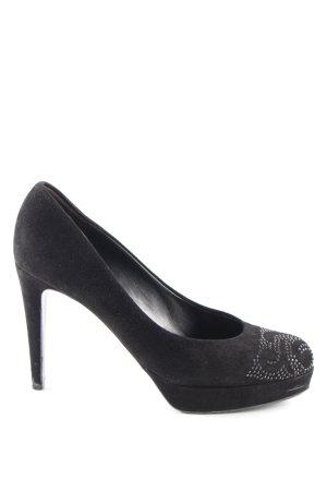 Kennel und Schmenger High Heels schwarz abstraktes Muster Party-Look
