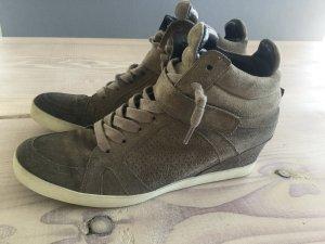 Kennel und Schmenger Keilabsatz Sneaker Gr. 6 1/2 Khaki 40 Olive