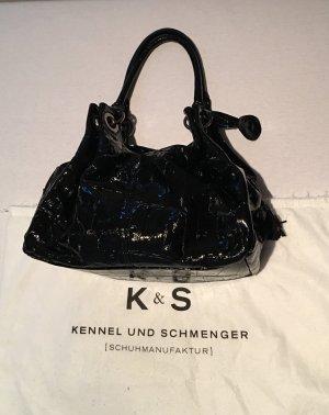 Kennel und Schmenger Lack Leder Tasche mit Kroko Prägung