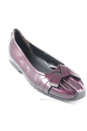 Kennel und Schmenger Lakleren ballerina's bruin-paars elegant