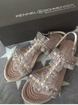 Kennel und Schmenger Leder Sandalen mit Swarovski Stein neu 199€