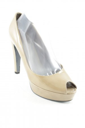 Kennel und Schmenger Peep Toe Pumps beige leather-look