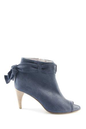 Kennel und Schmenger Peeptoe-Stiefeletten graublau Elegant