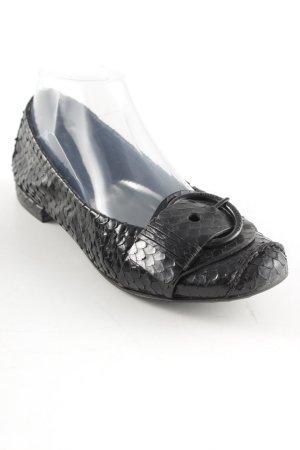 Kennel und Schmenger Ballerines à lacets noir motif animal élégant