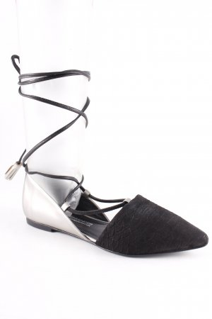 Kennel und Schmenger Riemchen-Sandalen schwarz-hellbeige Elegant