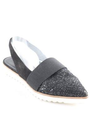 Kennel und Schmenger Sandalo con cinturino e tacco alto nero-bianco stile casual