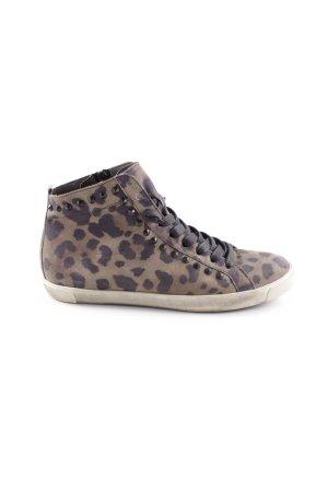 Kennel und Schmenger Lace-Up Sneaker ocher-anthracite animal pattern