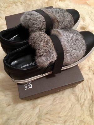 Kennel und Schmenger Zapatillas con velcro negro-gris claro Cuero