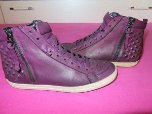Kennel und Schmenger Sneaker in schönem Lila Größe 5 1/2 aus Leder.