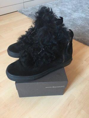Kennel + schmenger High Top Sneaker black-silver-colored suede