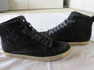 Kennel + schmenger Lace-Up Sneaker black leather