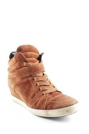 Kennel und Schmenger Wedge Sneaker cognac sportlicher Stil