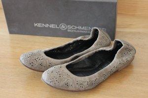 Kennel und Schmenger Wildleder Ballerinas, nude/beige, Gr.38