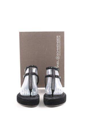 Kennel und Schmenger Sandalo toe-post nero stile casual