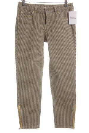 Kenneth Cole 7/8-Hose beige-dunkelblau Streifenmuster Casual-Look