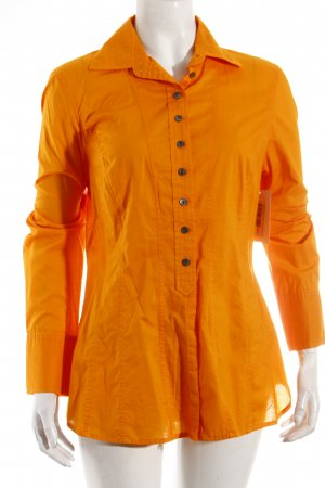 Kenneth Cole Langarm-Bluse goldorange Casual-Look