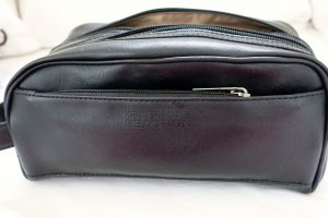 Kenneth Cole Accessory black leather
