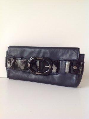Kenneth Cole Clutch black-dark blue leather