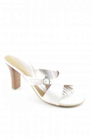 Kenneth Cole Riemchen-Sandalen weiß-hellbraun schlichter Stil