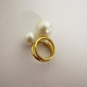 Kenneth Jay Lane Double Pearl Ring Perlen chic
