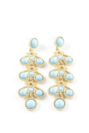 Kenneth Jay Lane Pendientes colgante color oro-azul claro elegante