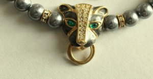 Kenneth Jay Lane Panther Collier Kette