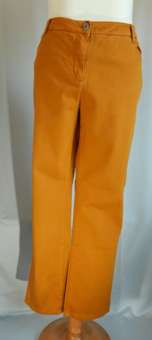Kenny S.coulored 5 Poket Hose,Style Pia,mittlerer Bund,Farbe messing-curry,Gr. 48