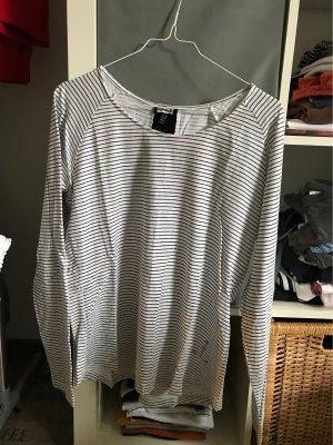 Kenny S. Boatneck Shirt white-black
