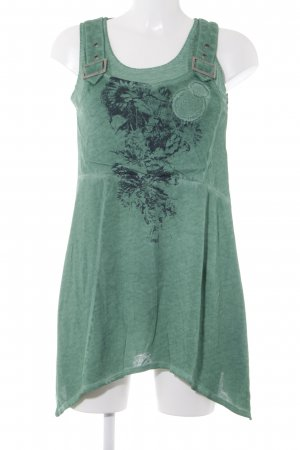 Kenny S. Minikleid waldgrün-schwarz Blumenmuster Rockabilly-Look