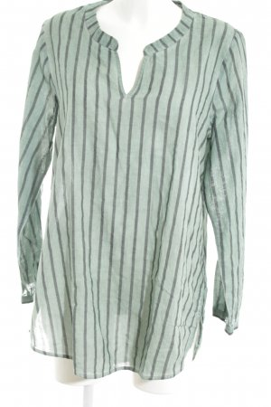 Kenny S. Slip-over Blouse turquoise-light grey striped pattern casual look
